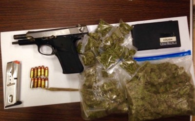 Cops Find Gun, Weed after Stopping Man for Public Urination