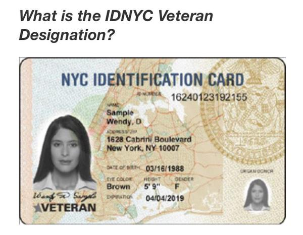 De Blasio Introduces IDNYC Veterans Card