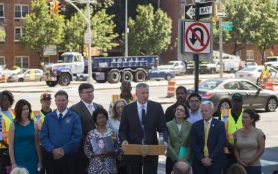 City Begins Work on Queens Boulevard; De Blasio touts $100M Vision Zero project