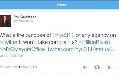Goldfeder Calls on City to Accept 311 Complaints via Social Media