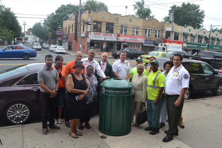 High-End Trash Baskets to Help Combat Litter in District 28