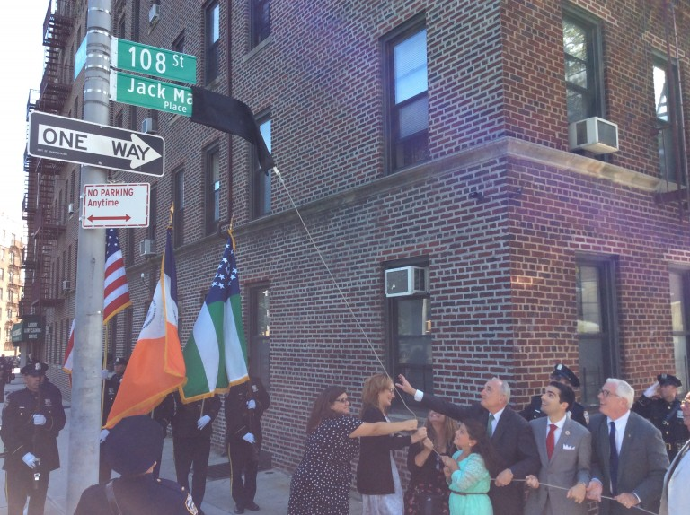 Richmond Hill Community, City Leaders Honor Jack Maple at Street Co-Naming
