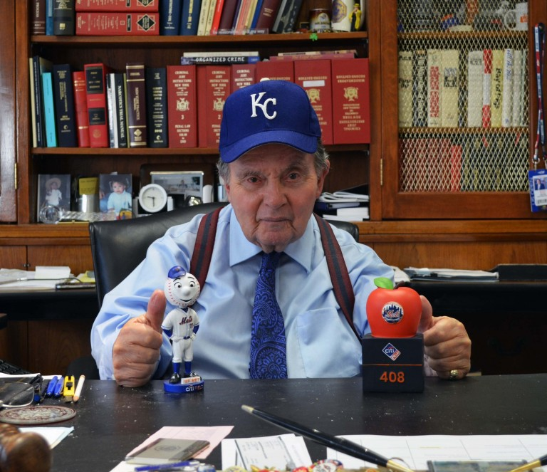 DA Brown Pays off World Series Wager