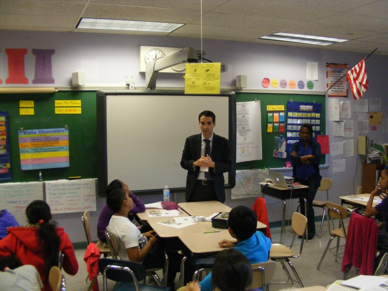 Career Day Brings Councilman to the Classroom