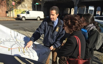 Assemblyman Leads DOT Commissioner on Tour of Rockaway Rail Line; Goldfeder makes case for reactivation of abandoned right-of-way