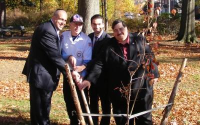 Pols Plant, Dedicate 9/11 Survivor Tree in Forest Park
