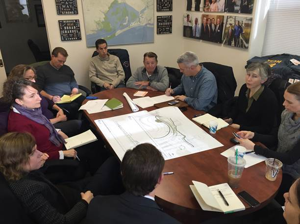 Goldfeder Hosts Meeting; Park and Educational Center in the Works