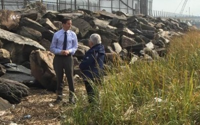 Goldfeder Calls on MTA to Clean Hamilton Beach 'Graffiti Rocks'