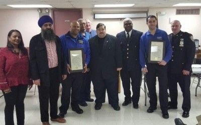 Area Officers Honored