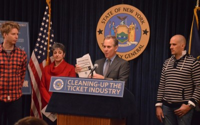Industry Practices Prevent NY Consumers from Accessing Tickets at Affordable Prices: AG Report