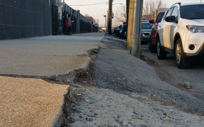 Pol, Parents Press City Agencies to Repair Badly Damaged Sidewalks around PS 146