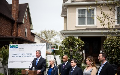 De Blasio Proposes $183 Water Bill Credit for 277K+ Queens Homes