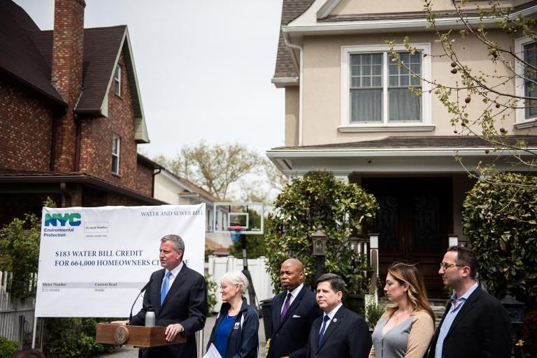 De Blasio Proposes $183 Water Bill Credit for 277K+ Queens Homes