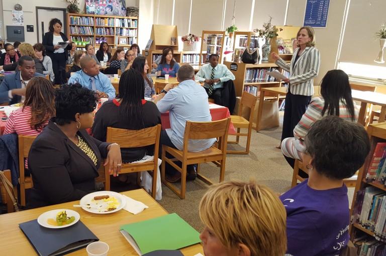 Katz Updates District 27 Educators at Legislative Breakfast