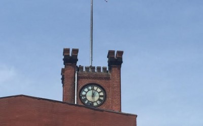 Addabbo Donates Special Stars & Stripes to Clocktower Building