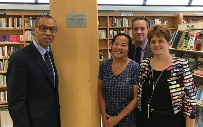 Library Unveils Plaque Dedicated to 'Devoted Patron' Frank Esposito