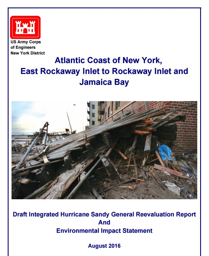 USACE Releases Draft Environmental Impact Statement for Rockaway Reformulation Plan