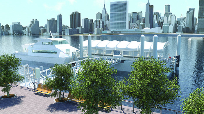 EDC to Site Citywide Ferry Service Landing in  Gantry Plaza State Park