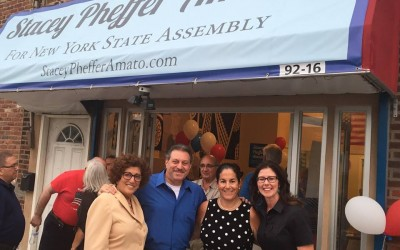Pheffer Amato Opens Assembly Campaign HQ in Rockaway Beach