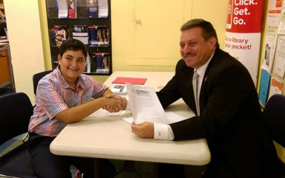 Addabbo Trumpets Eighth-Grader's  Anti-Bullying Project