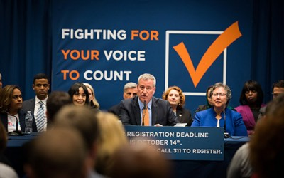 De Blasio Urges Albany to Pass Reforms to Make  State Voting Process 'Fairer, More Open'