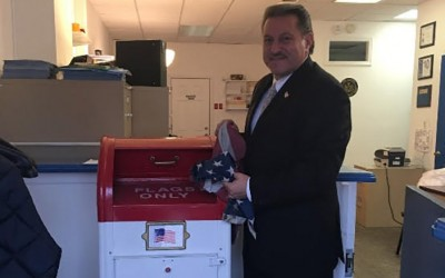 Senator Sets up Drop Box in Howard Beach  for Proper Disposal of Unwanted American Flags