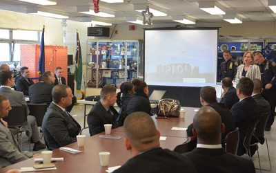 Katz Welcomes  New Class of Cops  to South Queens
