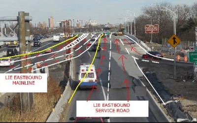 State Implements Temporary Changes  in Traffic Pattern at LIE/Grand Central Interchange