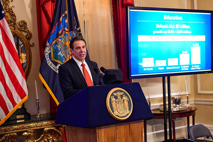 Cuomo's Executive Budget Anchored by Middle-Class Tax Cuts, $25.6B in Education Aid