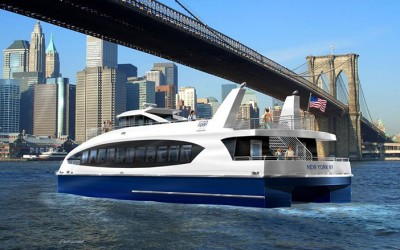 First Citywide Ferry  Service Vessel Hits Water