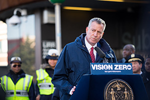Vision Zero 'Dusk and Darkness' Campaign  Reduced Traffic Fatalities by 26 Percent: de Blasio