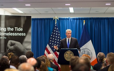 De Blasio 'Turn the Tide on Homelessness' Plan  Pledges to End Use of Hotel and Cluster-Shelter Sites