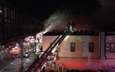 Several Families Homeless after Seven-Alarm Blaze Guts Liberty Avenue Buildings