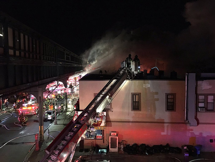 Several Families Homeless after Seven-Alarm Blaze Guts Liberty Avenue Buildings