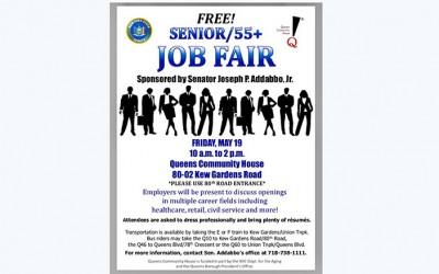 Addabbo Set  to Host Senior Job Fair  in Kew Gardens