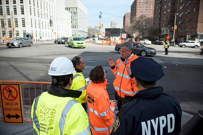 Activists Decry de Blasio's Call  to Kickoff Construction on Select Bus Service