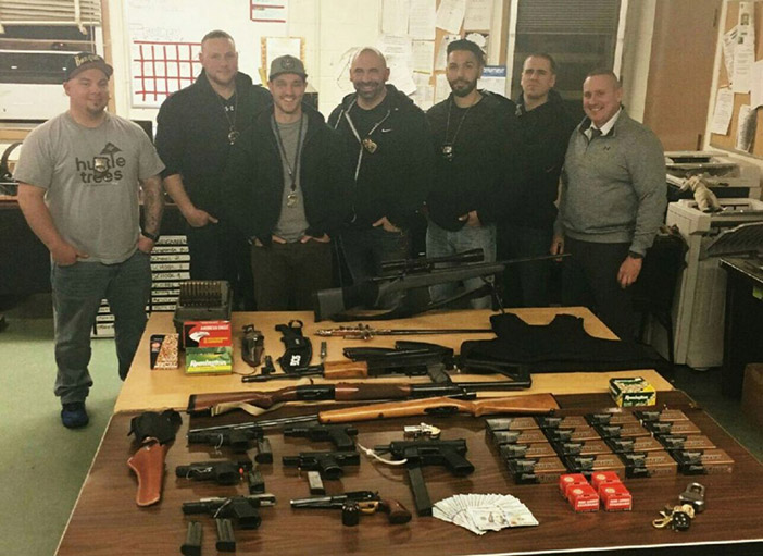 Cops Recover Cache of Weapons, Drugs in New Hyde Park