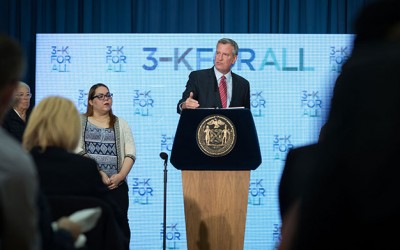 Mayor De Blasio Announces  '3-K for All' Early Childhood Education Plan