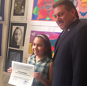 Addabbo Gives  Art Awards  to PS 63 Students