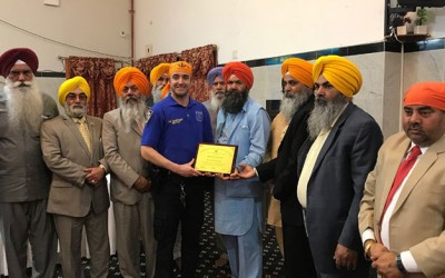 Veteran 102nd Precinct Community Affairs Officer Honored by South Richmond Hill Sikhs