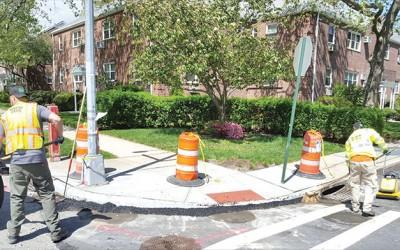 DOT Improves Lindenwood Pedestrian Ramps