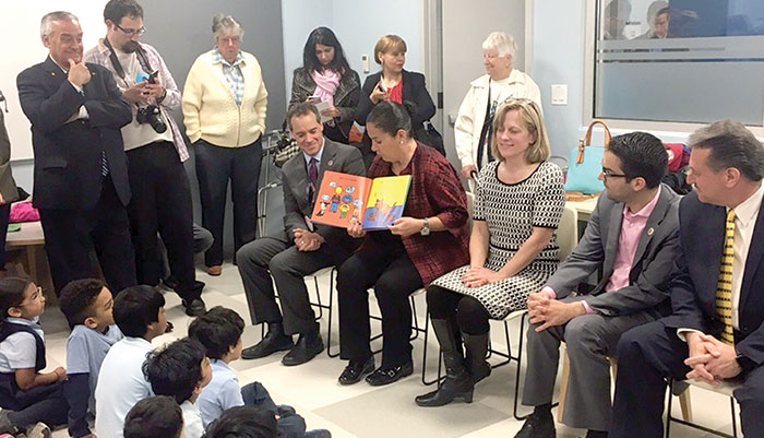 Ozone Park Community, Elected Officials  Open Renovated Library