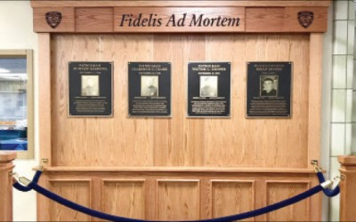Newly Dedicated Memorial Wall Honors Officers  of 105th Precinct who Made the Ultimate Sacrifice