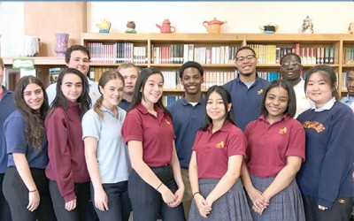 Christ the King HS Honors April Students of the Month