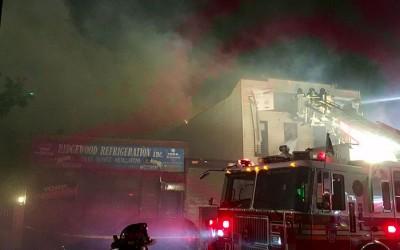 Five-Alarm Inferno Injures 12, Including 11 Firefighters; Destroys Glendale Building