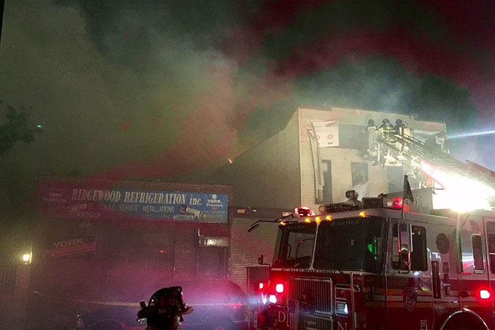 Five-Alarm Inferno Injures 12, Including 11 Firefighters; Destroys Glendale Building