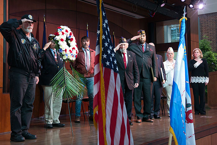 Distinguished Veterans Honored at Borough Hall Memorial Day  Observance Ceremony