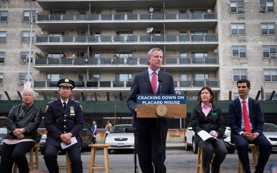 De Blasio Pledges  to Crack Down on Parking Placard Abuse
