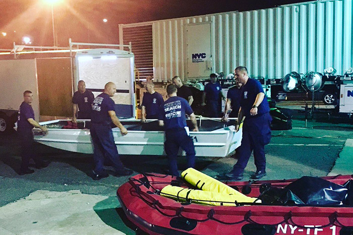Special Operations FDNY/NYPD Team Sent to Texas to Help Area Crews in Hurricane Harvey Aftermath