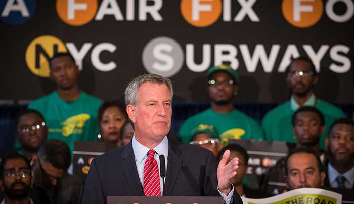 De Blasio Proposes 'Fair Fix' Tax on Wealthiest Residents to Help Modernize Subway and Bus System